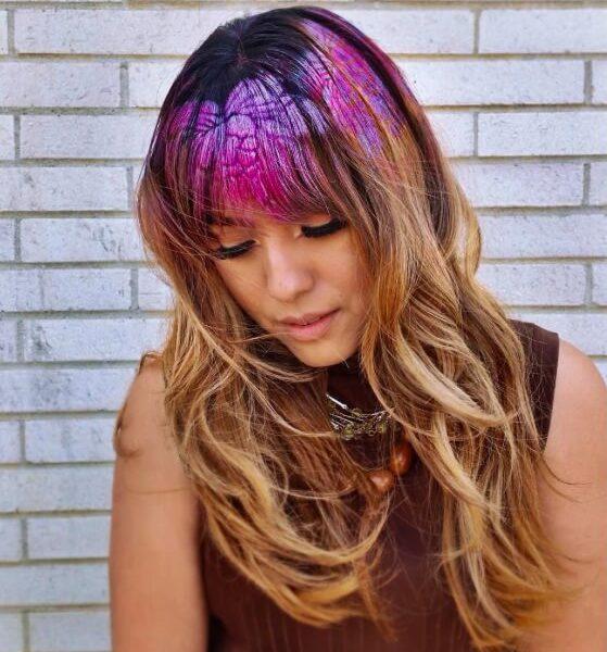 Цветные изображения на волосах