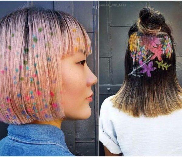 Изображения на женских волосах
