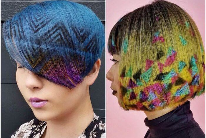 Рисунки на волосах