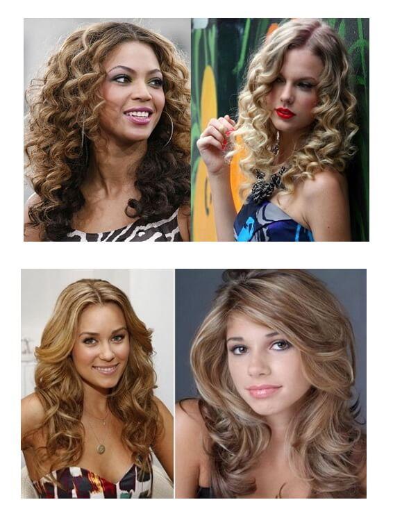 Вьющиеся волосы со стрижкой