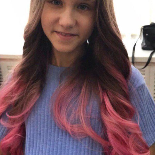 Детское окрашивание волос с укладкой в Минске