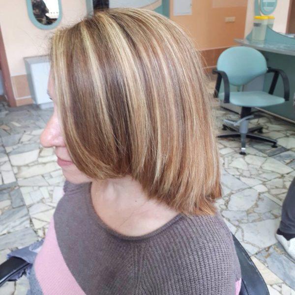 Сложное окрашивание и укладка волос Минск