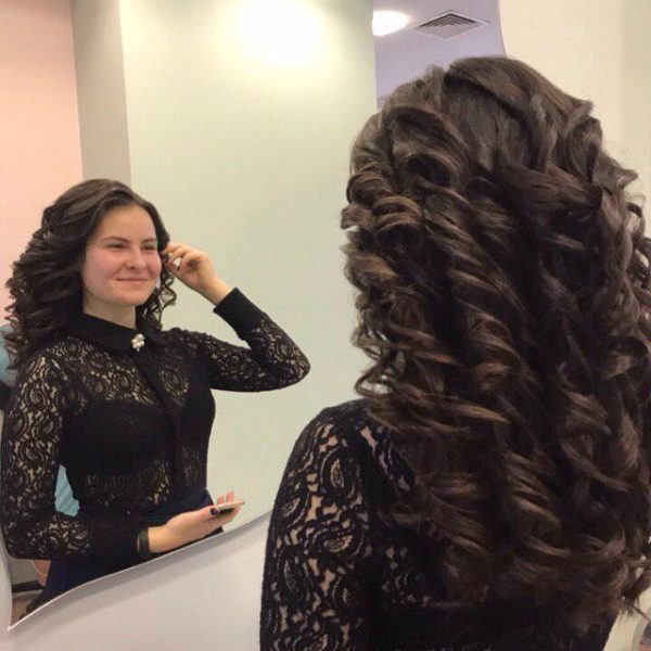Локоны на длинный волос Минск