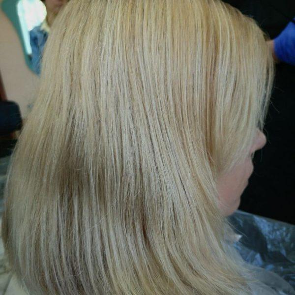 модель до окрашивания волос