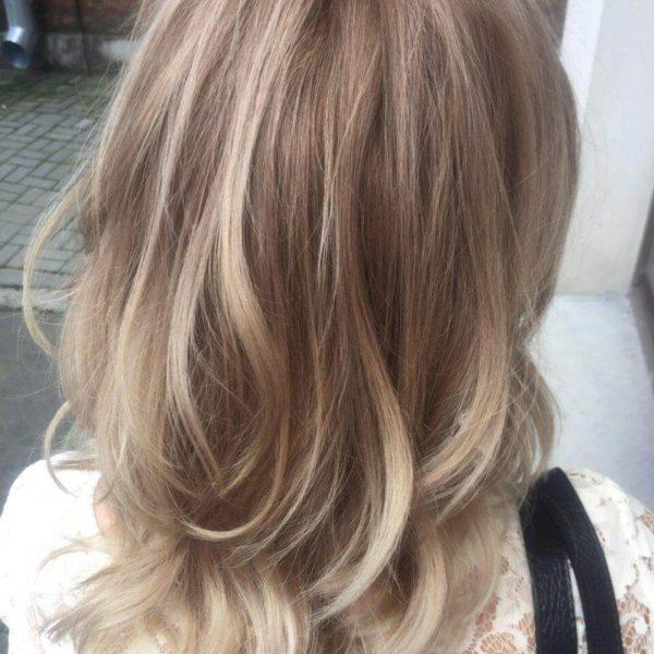 Окраска волос с укладкой