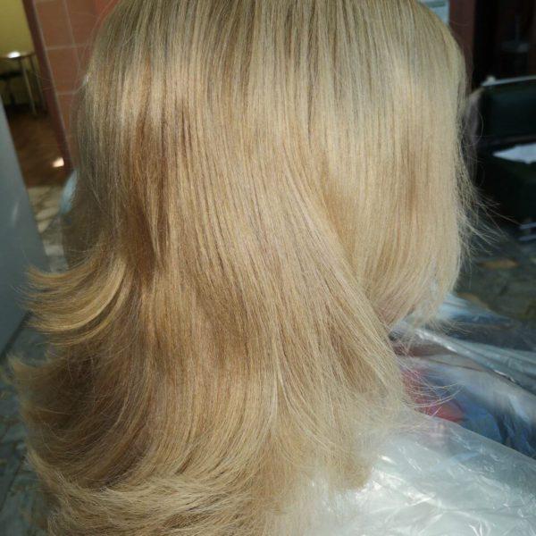 светлые окрашенные волосы